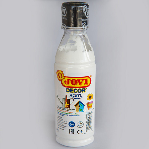 Jovi Decor acryl, valkoinen 250ml