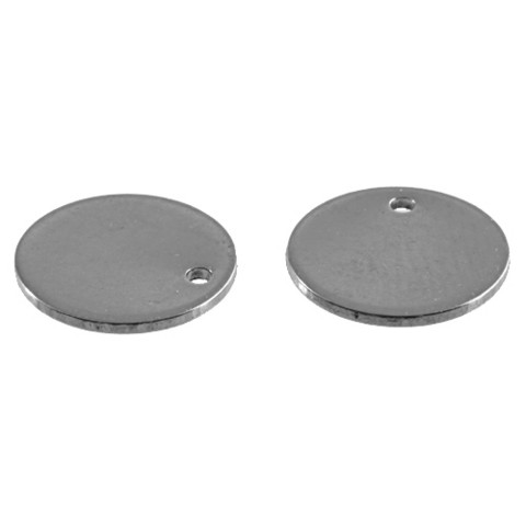 Pyöreät metallilaatat 10 mm, 10 kpl