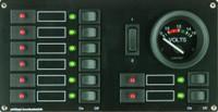 Philippi sähkötaulu STV118 8:lla kytkimellä ja mittarilla 12V