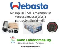 Webasto Air Top 2000STC peruskäyttökytkimellä ja veneasennussarjalla