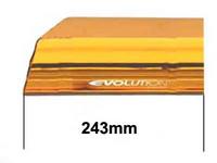 Varalasi paneliin, 243mm, keltainen, päätypala