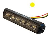 LED tasovilkku ECE R65  6xled keltainen 12-24V