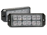 LED TASOVILKKU keltainen ECE R65 ,12x teholed 12-24v