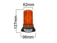 Xenon, minivilkkumajakka, 10-80V, keltainen, VisionAlert, 2-pulttikiinnitys
