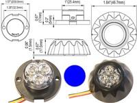 LED-varoitusvalo  -  Sininen, 12/24V