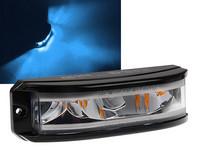 LED-tasovilkku Tehokas 180° valaiseva varoitusvilkku. 12-24V, sininen