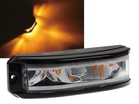 LED-tasovilkku Tehokas 180° valaiseva varoitusvilkku. 12-24V, keltainen