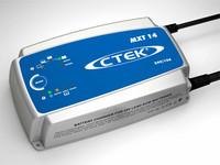 MXT 14 Automaattilaturi 24V, 14A, 8-vaiheinen, toimii virtalähteenä