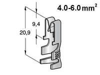 Liitin UNI F630 4.0-6.0mm2 johdolle