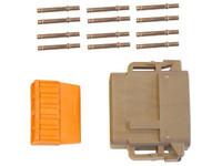 Liitinsarja Deutsch 12-pin. naarasliittimin (0,5mm2), DTM-srj