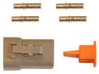 Liitinsarja Deutsch 4-pin. naarasliittimin (2-3mm2), DTP-srj