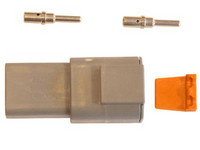 Liitinsarja Deutsch 2-pin. urosliittimin (2-3mm2), DTP-srj