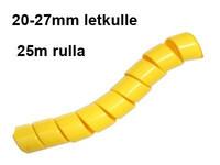 Hydrospiraali 20-27mm letkulle Keltainen