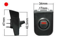 Keinukytkin, on-off, 12V, asennuskehys, LED punainen, 3x6.3mm liitin