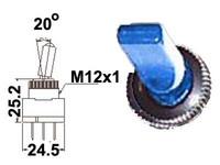 Vipukytkin, on-off, 12V, LED sininen, 3x6.3mm liitin