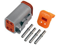 Deutsch 4-pin. naarasliittimin (0,5-1,5mm2), DT-srj