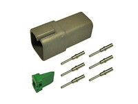 Liitinsarja Deutsch 6-pin. urosliittimin (0,5-1,5mm2), DT-srj