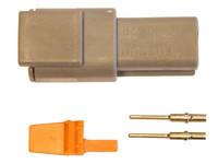 Liitinsarja Deutsch 2-pin. urosliittimin (0,5mm2), DTM-srj