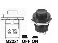 Painonappi, palauttava, musta muovi, 3xM3-ruuviliitin