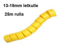 Hydrospiraali 13-18mm letkulle Keltainen