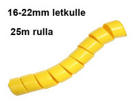 Hydrospiraali 16-22mm letkulle Keltainen