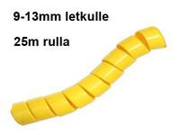 Hydrospiraali 9-13mm letkulle Keltainen