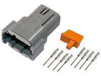 Liitinsarja Deutsch 8-pin. urosliittimin (0,5mm2), DTM-srj