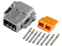 Liitinsarja Deutsch 8-pin. naarasliittimin (0,5mm2), DTM-srj