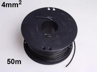 Autojohto 4mm2, 50m musta
