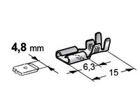 Liitin 4,7mm, eristämätön, lukolla