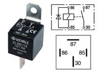 Tehorele 12V, 4-napainen diodilla,70A