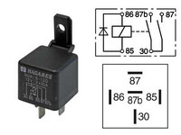 Kytkentärele 12v ,5-napainen diodilla