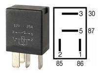 Mikrorele 12v, 4-napainen diodilla