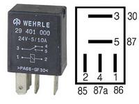 Mikrorele 24V, 4-napainen