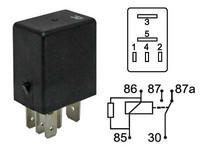 Mikrorele 24V, 5-napainen vastuksella