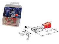 Lattaliitin 6.3mm naaras 100kpl punainen
