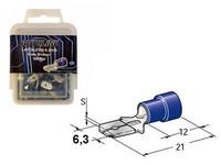 Lattaliitin 6.3mm uros  100kpl sininen