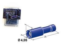 Liitin 5mm naaras 50kpl sininen