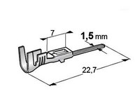 Liitin uros Superseal koteloon 1-1,5mm2