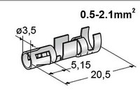 Liitin 3.5mm, naaras 0.5-2.1mm2 johdolle