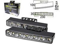 LED-päivävalosarja 12-24V, 6x1W led