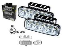 LED-päivävalosarja 12-24V, 5x1W led