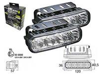 LED-päivävalosarja, 12-24V, 4x1W led