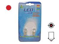 LED-polttimo 12v, BA9S punainen