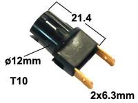Polttimon kanta 12mm reikään T10