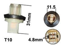 Polttimon kanta T10 polttimolle(lasikanta)