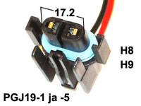 Polttimon kanta H8/ H9 polttimoille