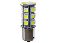 Polttimopari LED kirkas/valkoinen 24V BA15s