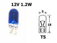 Polttimo Sininen 1,2W, T5 (W2x4.6d)