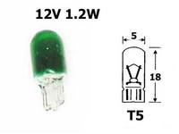 Polttimo Vihreä 1,2W, T5 (W2x4.6d)